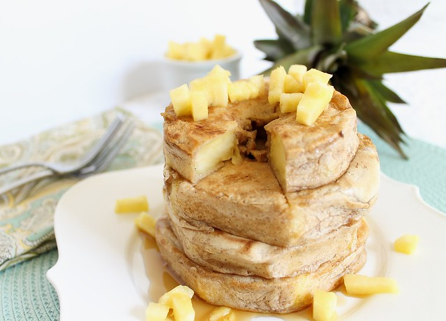 Pineapple ring pancakes