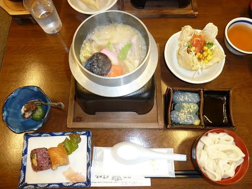 昼食 at 袋田温泉 関所の湯
