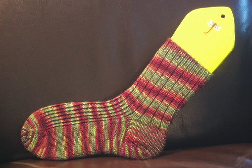 Winesap socks: sock 1