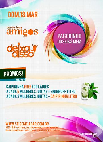 Flyer - Pagodinho do Seis & Meia by chambe.com.br