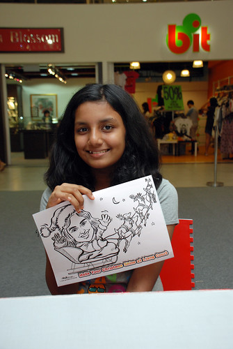 "caricature live sketching for ""Make Your Christmas Shine at Liang Court"" - 2"