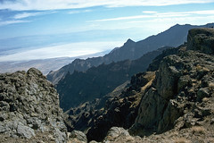 The East Face of Steens Mountain from the East Rim overlook.