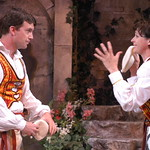 Twelfth Night L-R Josh Robinson  (Sebastian)_Kate Berry (Viola) photo P. Switzer -