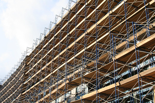 University of houston classroom and business building - Exterior scaffolding rental near me ...