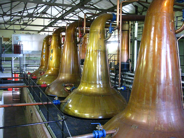 Cardhu distillery - spirit and wash stills
