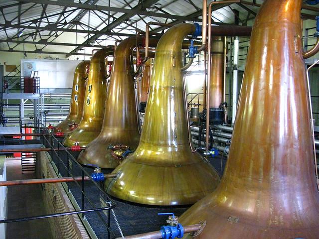 Cardhu distillery - spirit and wash stills