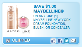 Maybelline New York Dream Product Coupon