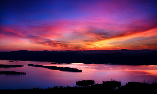 new york sunset lake ny clouds canon reflections landscape george twilight dusk upstate adirondacks ridge knob pilot adks waterfallguy