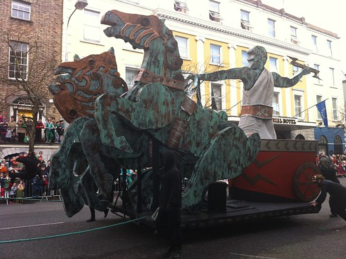 Zeus in Cork St. Patrick's Day parade. by despod