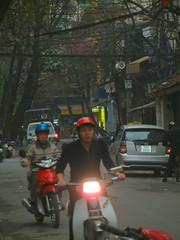 Evening traffic in Old Quarter
