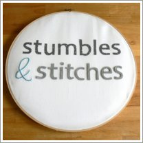 Stumbles & Stitches Button