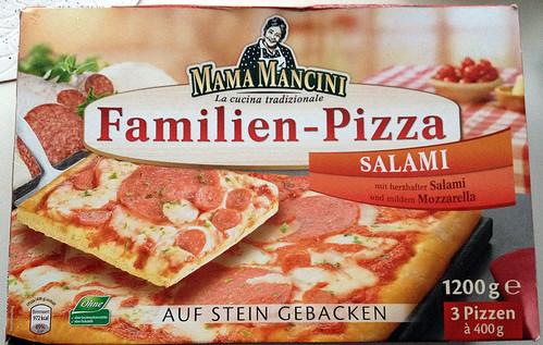 Mama Mancini Familienpizza Salami  - Packung