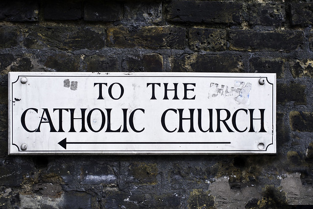 to the catholic church by H A P P Y F A M O U S A R T I S T S, on Flickr