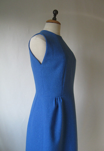 Blue vintage dress side view