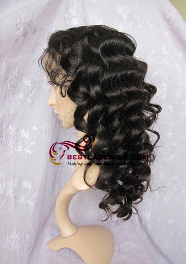 Sw074 Full Lace Wigs Silk Top Chinese Virgin Body Wave 26