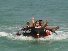 Waves Boat Club member's tubing