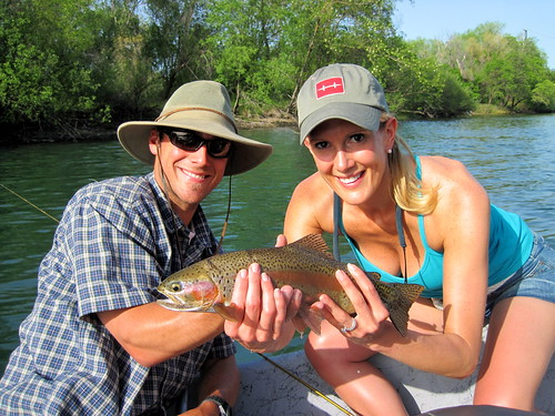 Heather's first fly caught 'Bow