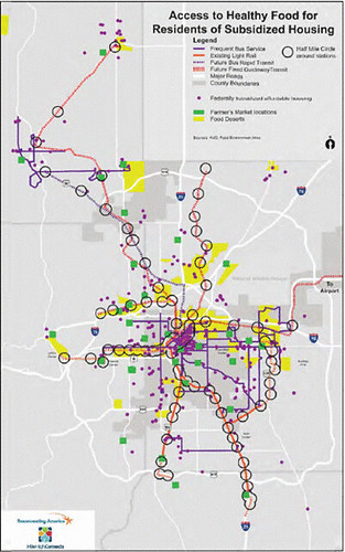 map showing access to healthy food (via Denver Reg Equity Atlas)