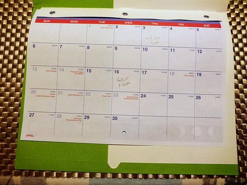 April 2014 Diary