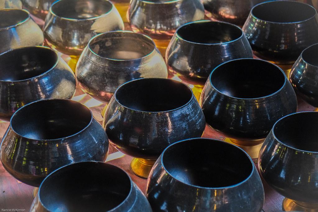 Monk Bowls at Wat Phan Tao