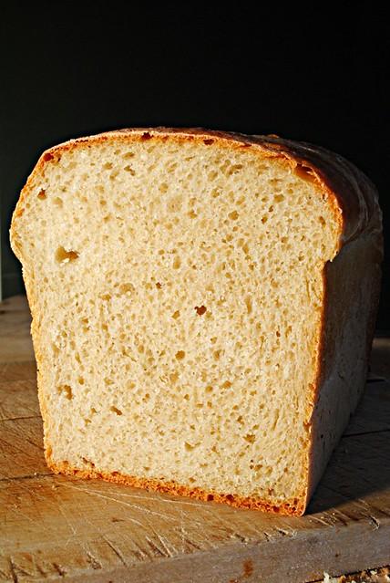Cooled loaf sliced