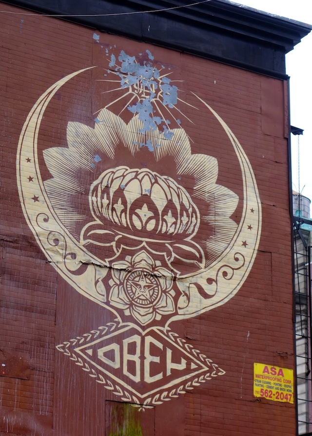 New York street art Lower East Side Shepard Fairey Obey