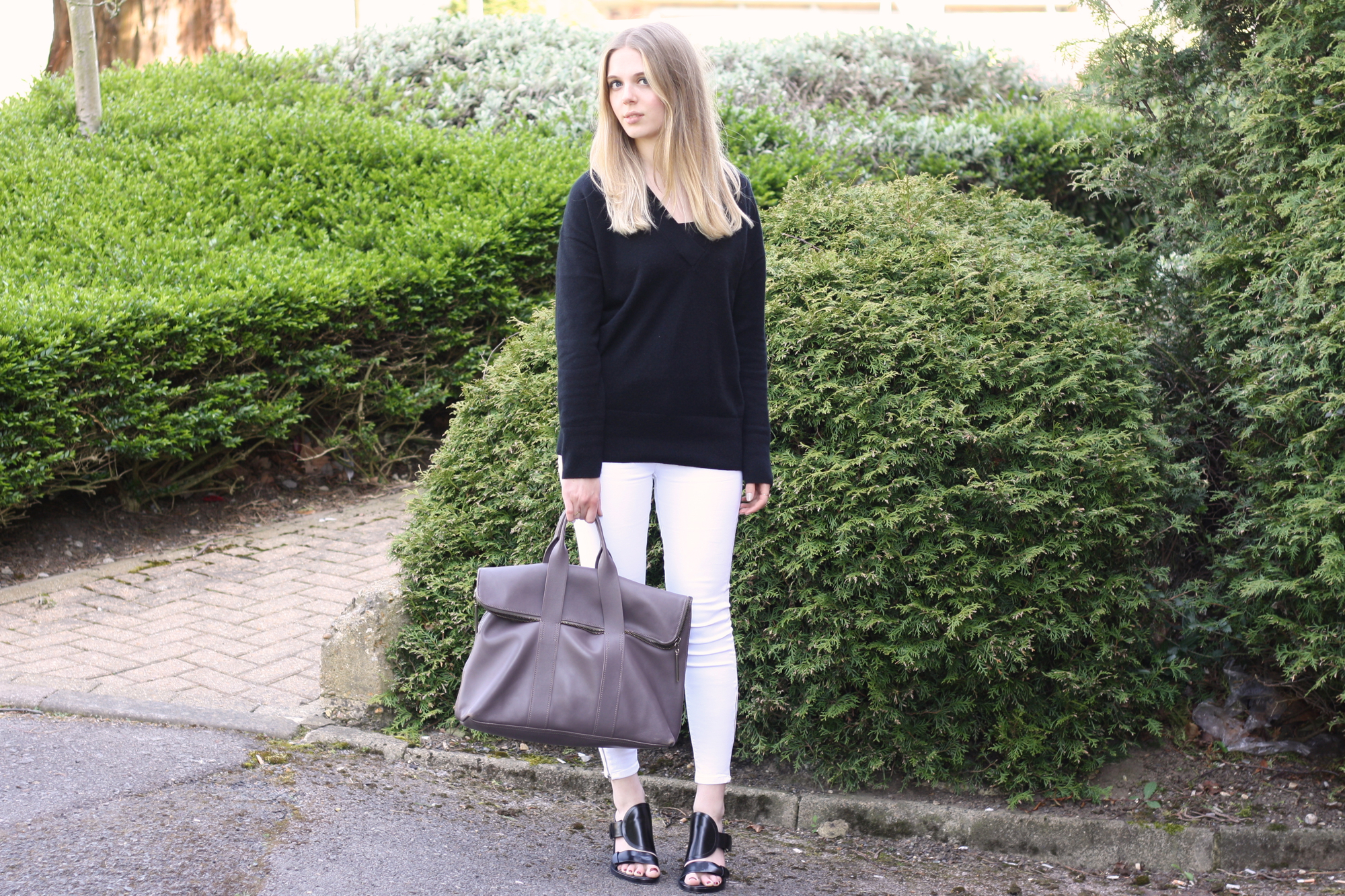 & Other Stories black cashmere sweater