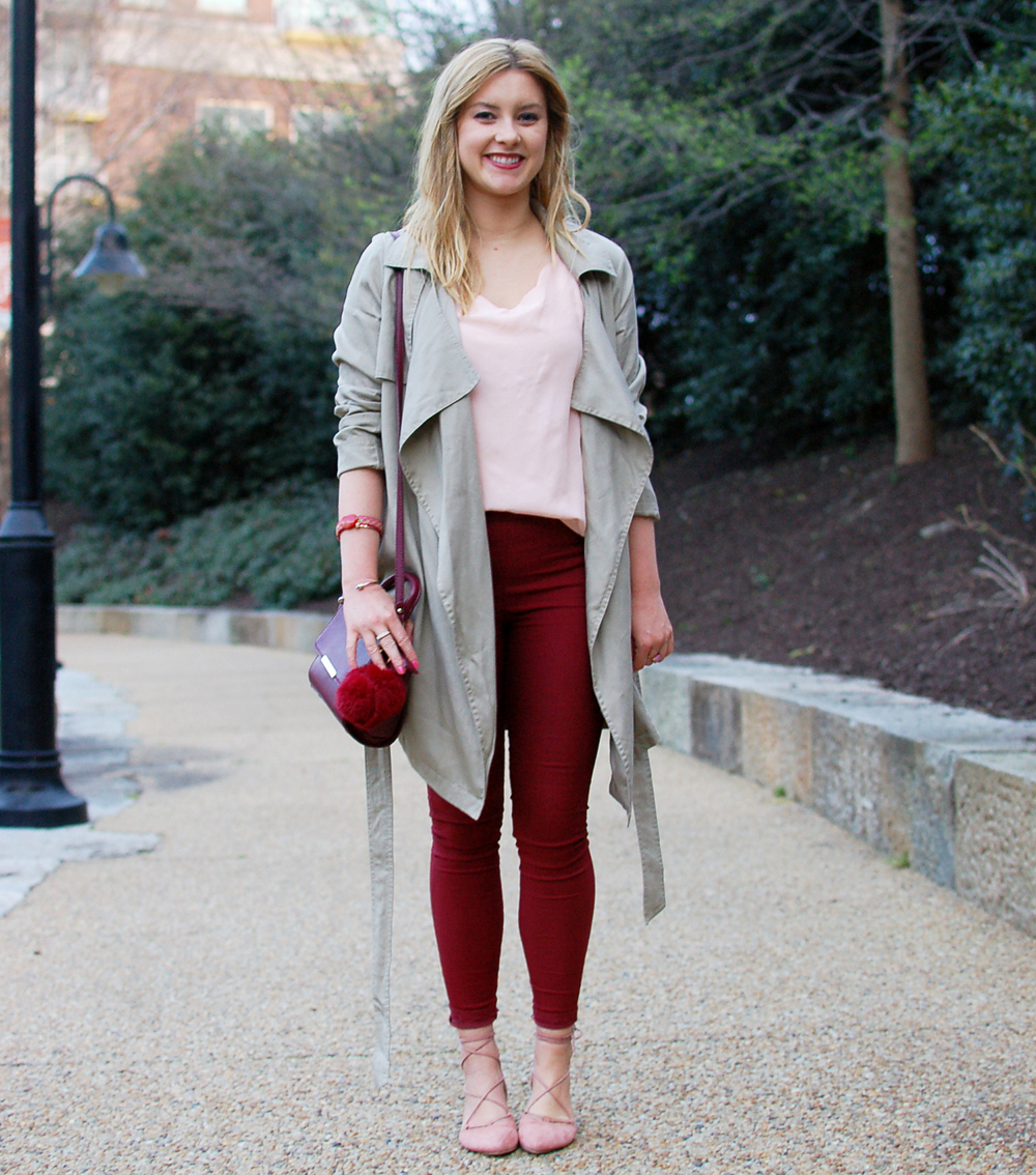 pink and marsala outfit