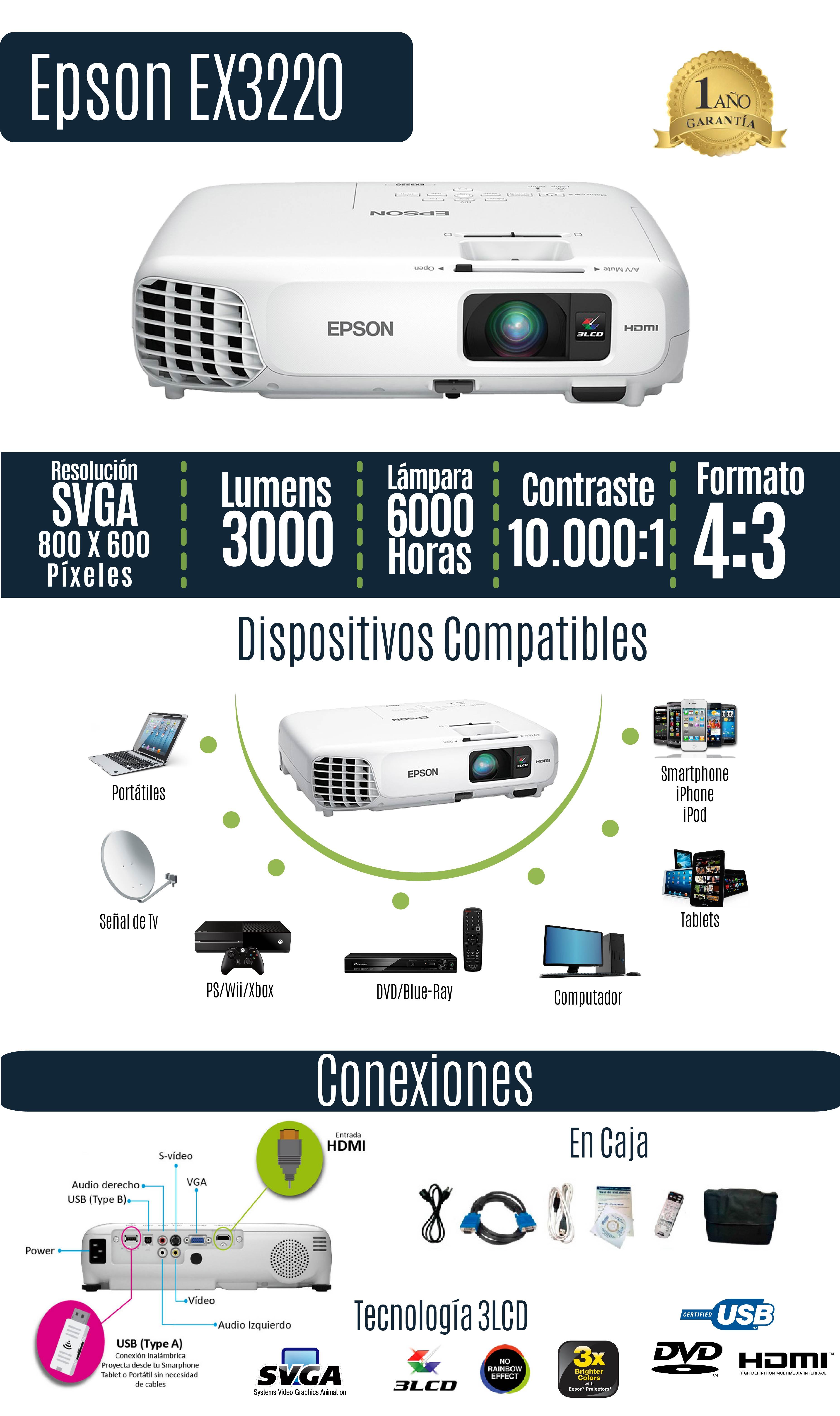 proyector epson video beam 3220
