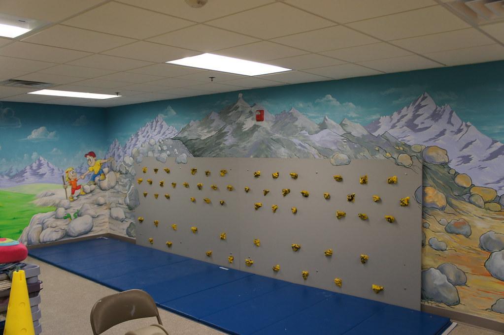 Gross Motor Room Playroom Mural Free Sky Studios
