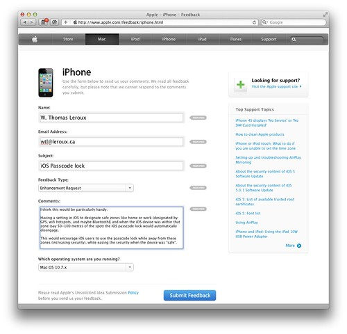 iPhone Feedback February 21, 2012 by WTL-Ottawa