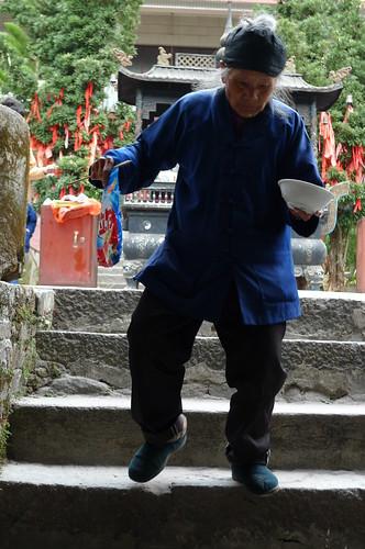 Nun - Taoist TempleConfucius Temple - Fengqing, Yunnan, China