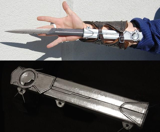 (Assassin's Creed) Paper Full size Dual-Action Hidden Blade (GEAR+WHEEL LOCK)) Update 17