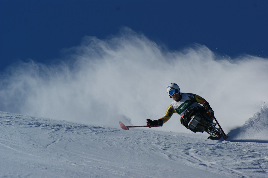 Kimberly Joines in action in World Cup giant slalom in Arta Terme, Italy.