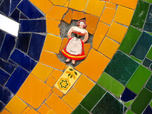 Mosaico de bandera de Brasil en Escaler Selarón by Miradas Compartidas