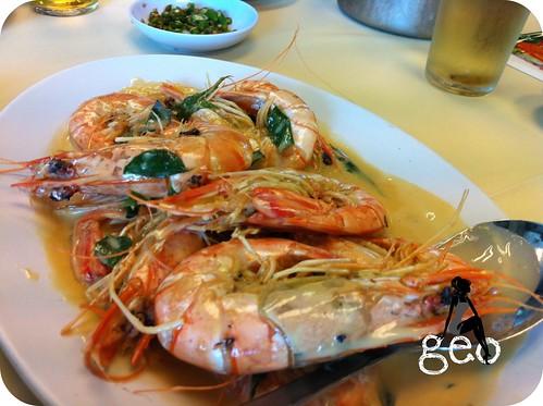 Pantai Seafood - butter prawns