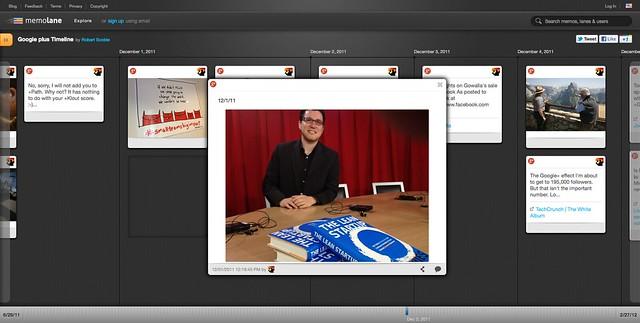 Google plus Timeline | Robert Scoble | Memolane | Dec 3, 2011