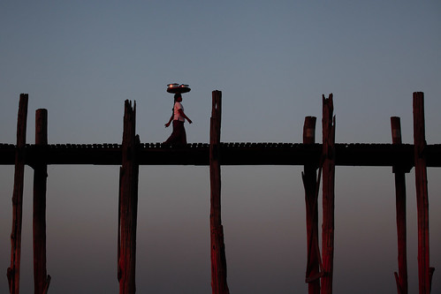 Dusk on U Bein Bridge