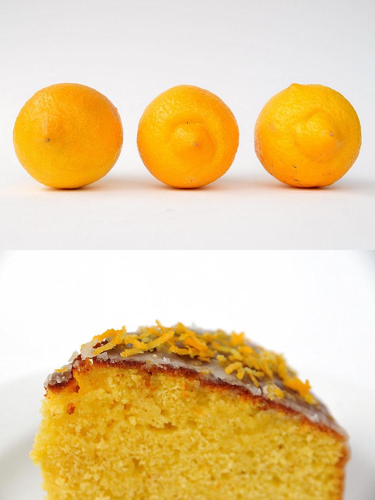 Bolo de limão com calda