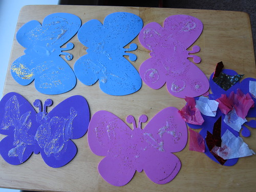 Painted butterflies