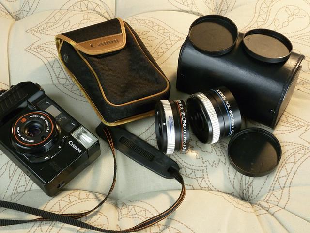 Canon AF35M II + akcesoria