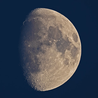 Late afternoon waxing gibbous Moon 3 March 2012