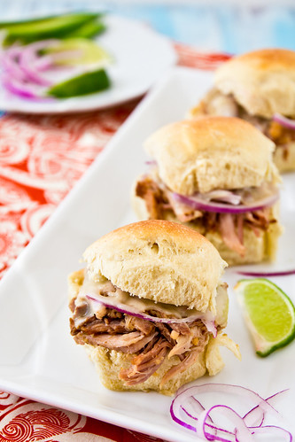 Cuban Style Pulled Pork Sliders