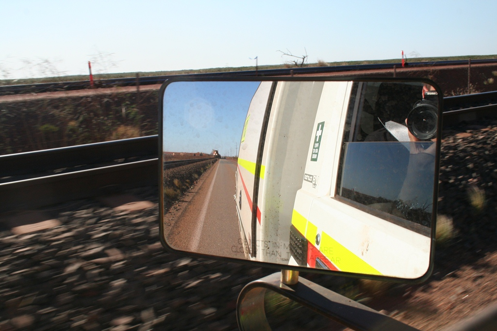 Objects in mirror are closer than they appear.. by Jeffrey Grenfell