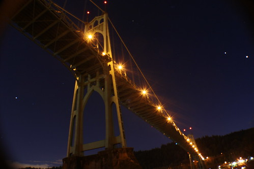 St. Johns Bridge on a Clear Night