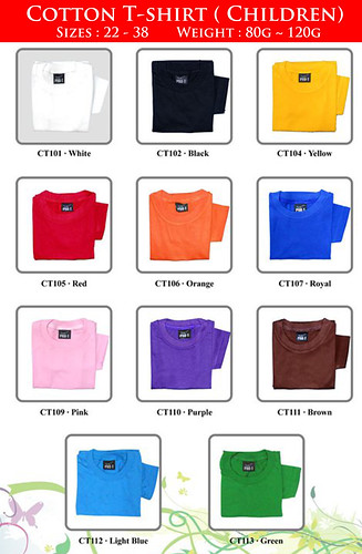 T-shirt Catalog - Children