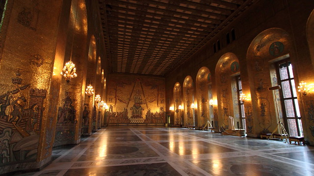 Golden Room, Stockholm City Hall