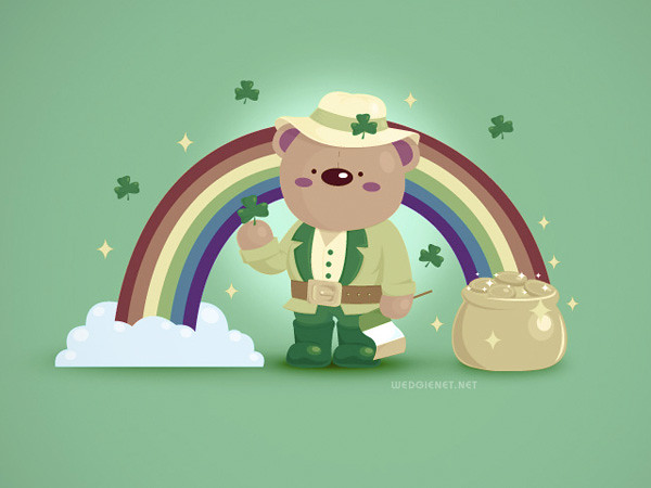 Irish Bear wallpaper by Wedgienet