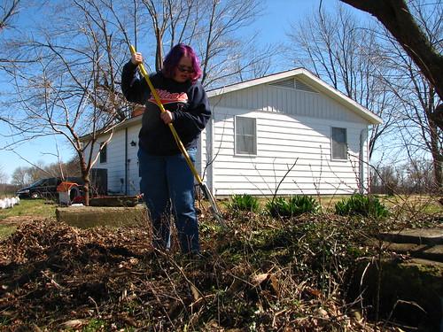 everyone helped clean the yard