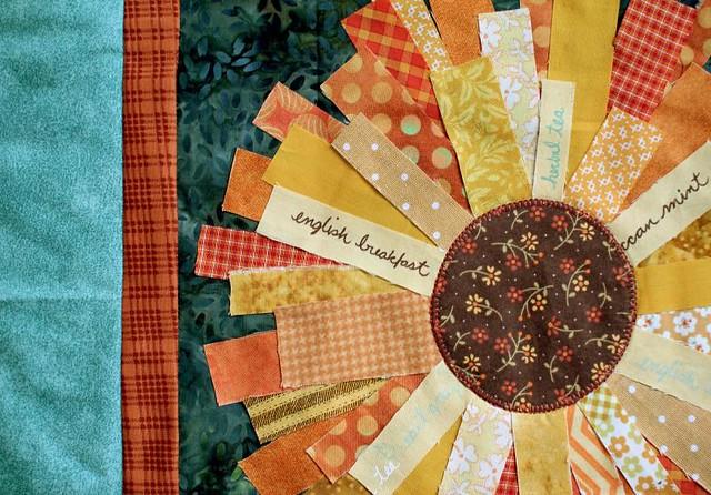 quilts double galleries quilt sunflower sun